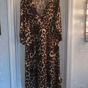 Leopard knee length dress!
